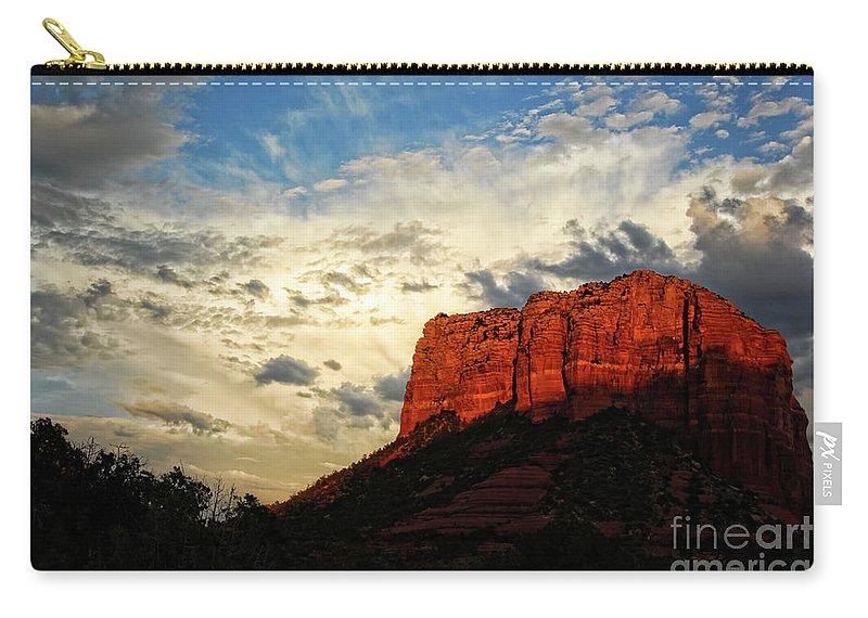 Arizona Carry-all Pouch featuring the photograph Sedona Sunset by Saija Lehtonen
