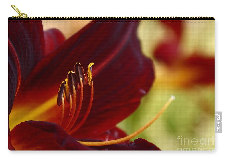 Seductive Lily Carry-all Pouch featuring the photograph Seduction After The Rain by Joanne Smoley