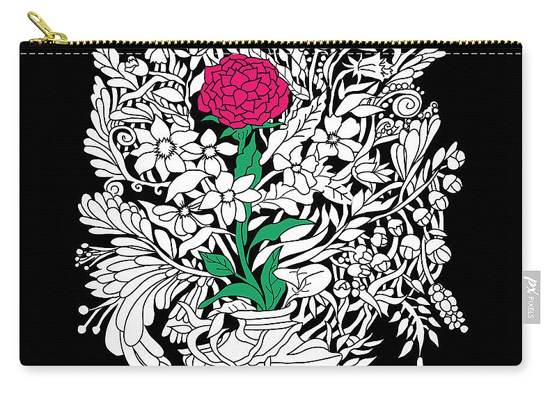 Flowers Carry-all Pouch featuring the digital art See only me by Smokini Graphics