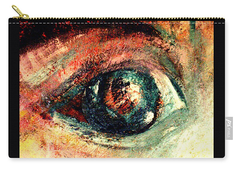 Eyes Carry-all Pouch featuring the painting See Through by Shakti Brien