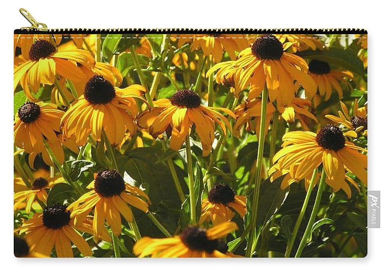 Sunflower Carry-all Pouch featuring the photograph See Us Together by Diane Greco-Lesser