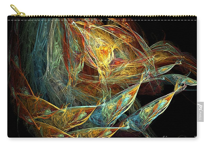 Seed Pod Carry-all Pouch featuring the digital art Seed Pod by Ron Bissett