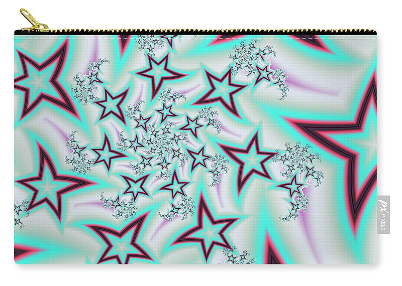 Art Carry-all Pouch featuring the digital art Seeing Stars by Candice Danielle Hughes