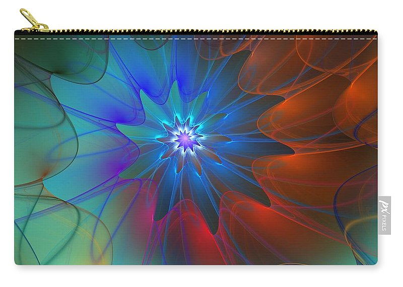 Fine Art Carry-all Pouch featuring the digital art Seeking Centerdness by David Lane
