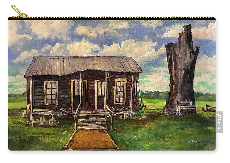 Mississippi River Carry-all Pouch featuring the painting Seep Ridge On Sunday by Randy Burns