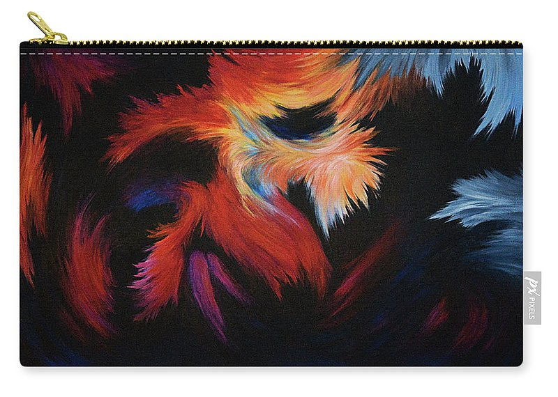 Abstract Carry-all Pouch featuring the painting Seizure by Rachel Christine Nowicki
