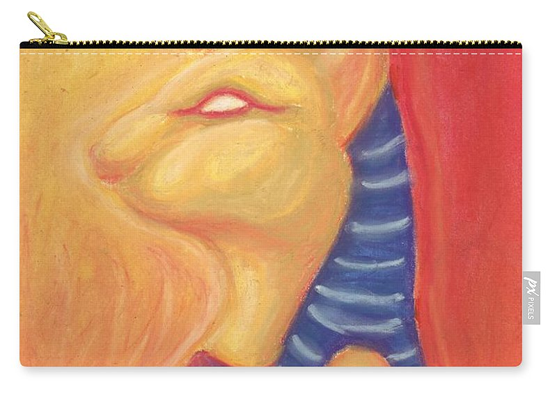 Sekhmet Carry-all Pouch featuring the painting Sekhmet by Cassandra Geernaert