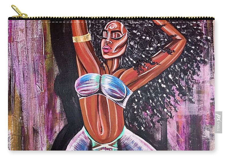 Lion Carry-all Pouch featuring the painting Self Made Royalty by Artist RiA