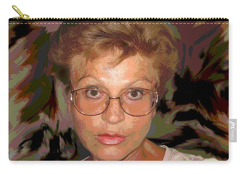 Self Portrait Carry-all Pouch featuring the photograph self portrait II by Dragica Micki Fortuna