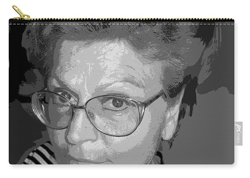 Self Portrait Carry-all Pouch featuring the photograph selfportrait III by Dragica Micki Fortuna