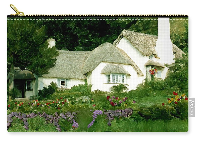 Selworthy Green Carry-all Pouch featuring the photograph Selworthy Green by Kurt Van Wagner