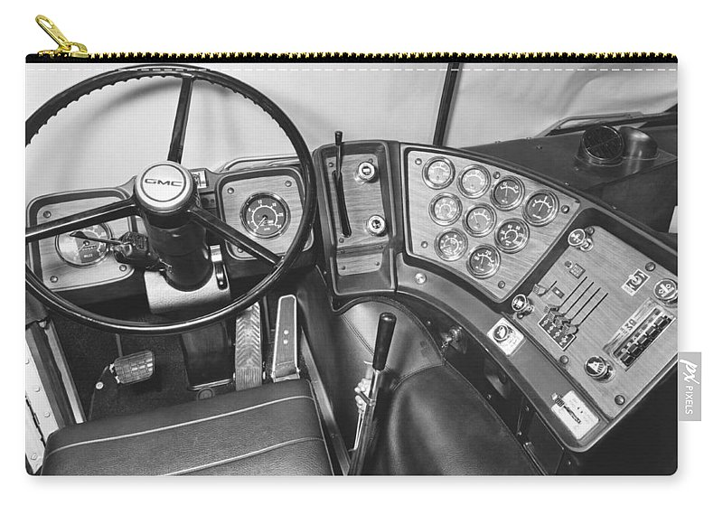 1960s Carry-all Pouch featuring the photograph Semi-trailer Cab Interior by Underwood Archives