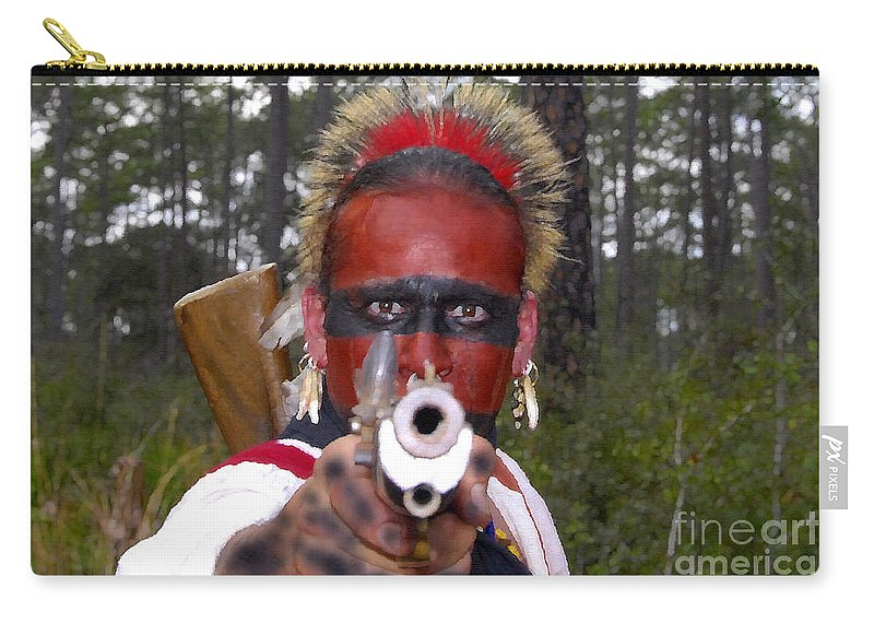 Seminole Indian Carry-all Pouch featuring the photograph Seminole Warrior by David Lee Thompson