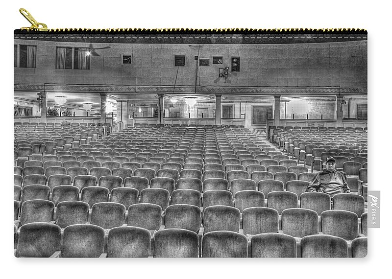 Carry-all Pouch featuring the photograph Senate Theatre Seating Detroit Mi by Nicholas Grunas