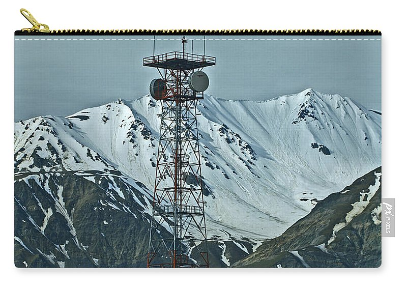 Alaska Carry-all Pouch featuring the photograph Sending Voices Across The Land by Denise McAllister