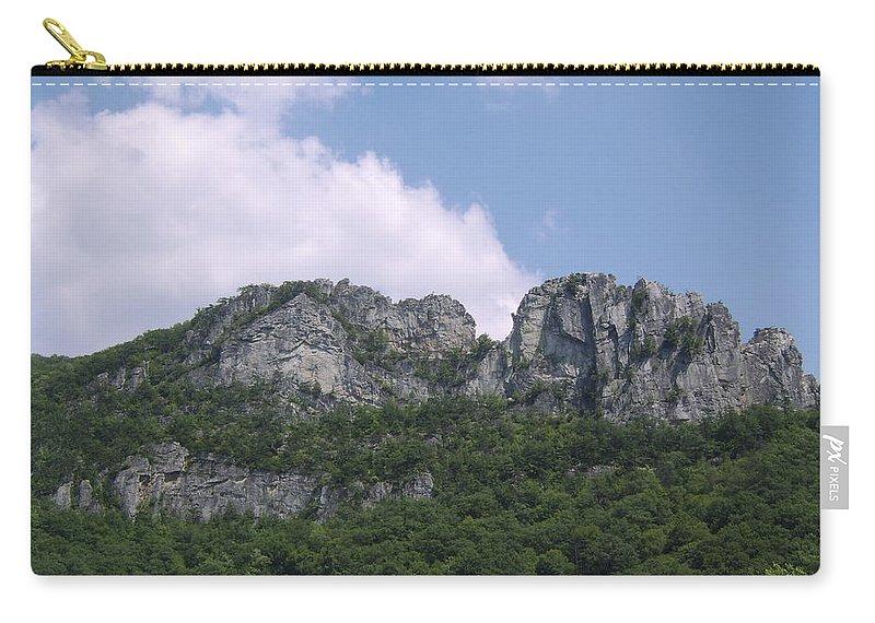 Seneca Rocks West Virginia Images Photographs Prints Appalachian Blue Ridge Mountain Landscape Images Nature Carry-all Pouch featuring the photograph Seneca Rocks by Joshua Bales