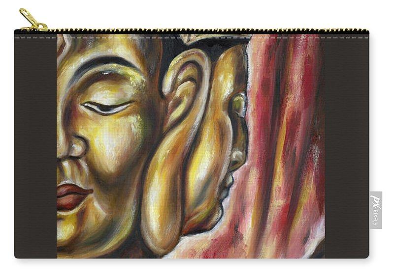 Japanese Carry-all Pouch featuring the painting Sengan Senju by Hiroko Sakai