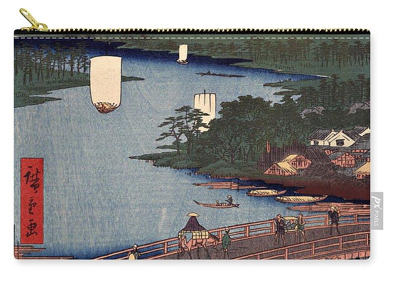 Senju Carry-all Pouch featuring the digital art Senju No Oubashi by Ricky Barnard