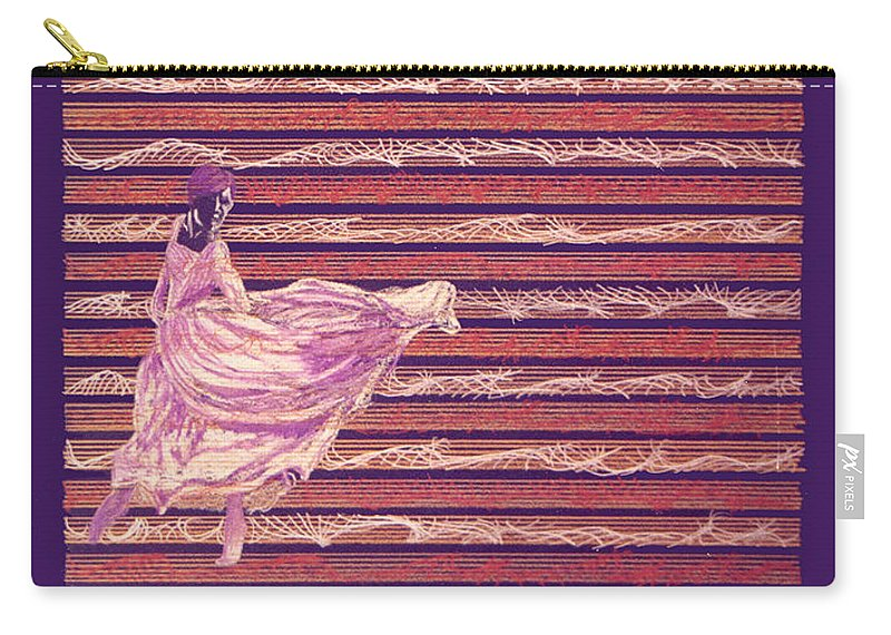 Music Carry-all Pouch featuring the drawing Senorita Dance by Steve Karol