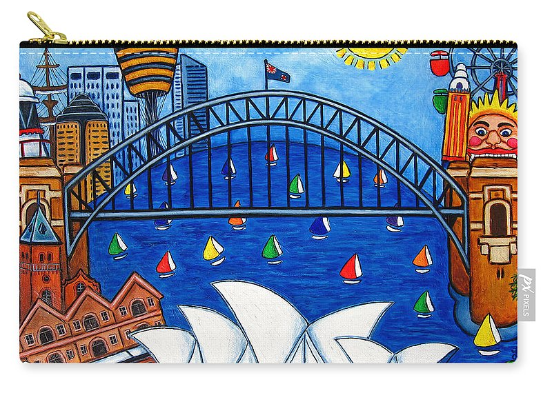 House Carry-all Pouch featuring the painting Sensational Sydney by Lisa Lorenz