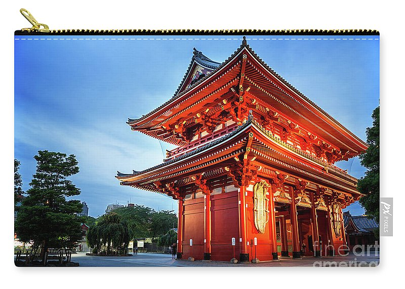 Tokyo Carry-all Pouch featuring the photograph Sensoji Temple by Jane Rix