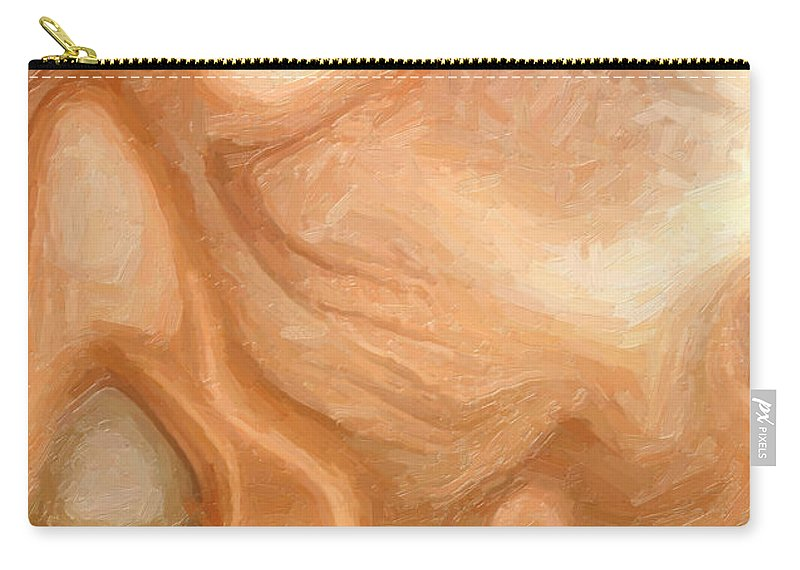 Disintegration Carry-all Pouch featuring the painting Sensual Disintegration by Joaquin Abella