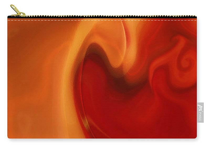 Sensual Love Carry-all Pouch featuring the digital art Sensual Love by Linda Sannuti