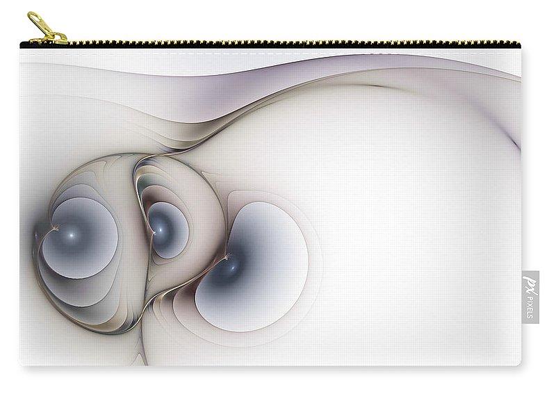 Abstract Carry-all Pouch featuring the digital art Sensual Manifestations by Casey Kotas