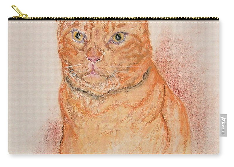 Cat Carry-all Pouch featuring the drawing Sentinel by Cori Solomon
