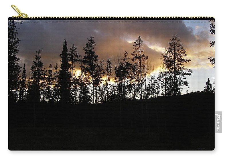 Tree Carry-all Pouch featuring the photograph Sentinels by DeeLon Merritt
