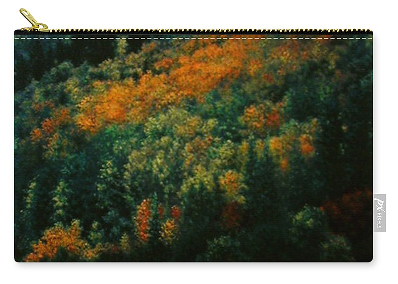 Scenic Carry-all Pouch featuring the painting Sentinels of September Serenity by Stephen Lucas