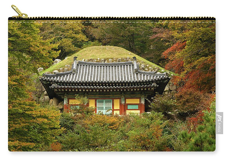 Asia Carry-all Pouch featuring the photograph Seokguram Grotto by Michele Burgess