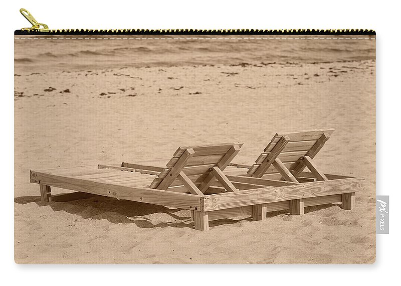Chez Lounge Carry-all Pouch featuring the photograph Sepia Chairs by Rob Hans