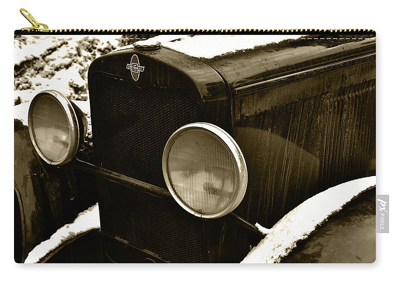 Old Truck Carry-all Pouch featuring the photograph Sepia Chevy by Ed Ostrander