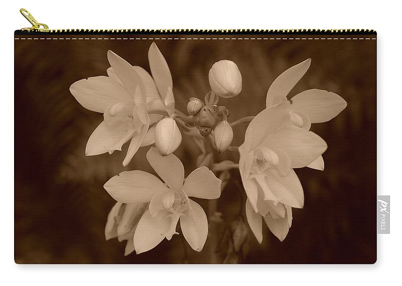 Macro Carry-all Pouch featuring the photograph Sepia Flower by Rob Hans
