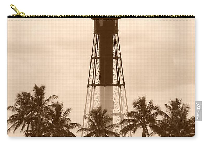 Sepia Carry-all Pouch featuring the photograph Sepia Light House by Rob Hans