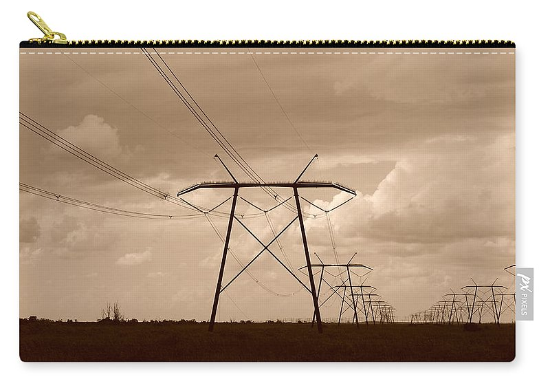 Sepia Carry-all Pouch featuring the photograph Sepia Power by Rob Hans