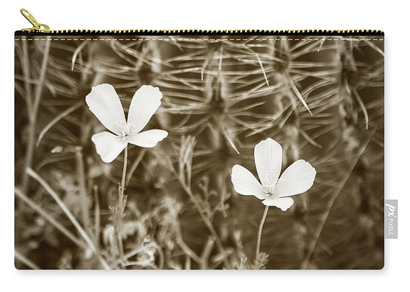 Arid Carry-all Pouch featuring the photograph Sepia Souls by Martina Schneeberg-Chrisien