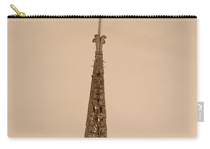 Sepia Carry-all Pouch featuring the photograph Sepia Spire by Rob Hans