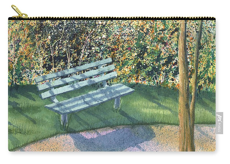 Autumn Trees Carry-all Pouch featuring the painting September Afternoon by Lynn Quinn