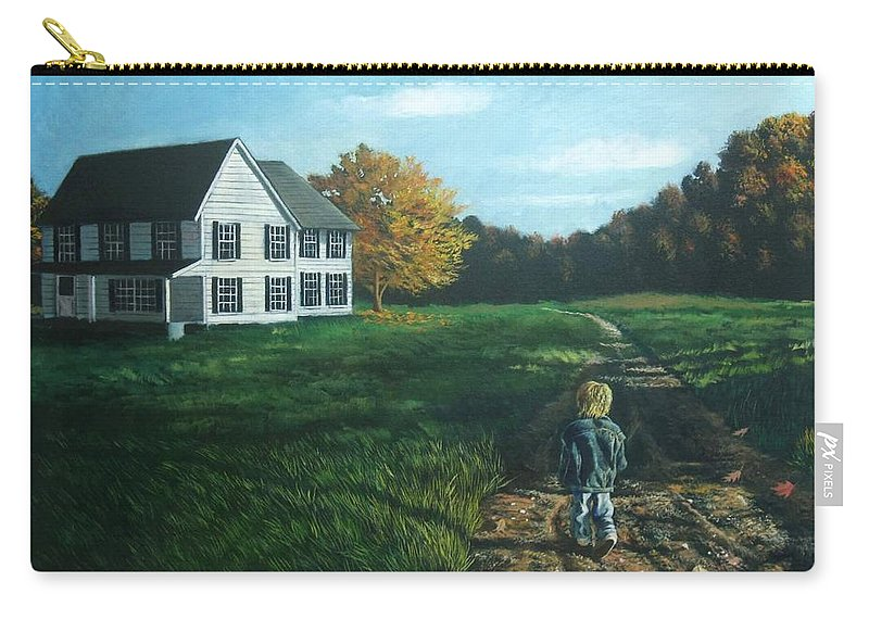Pennsylvania Carry-all Pouch featuring the painting September Breeze Number 4 by Christopher Shellhammer