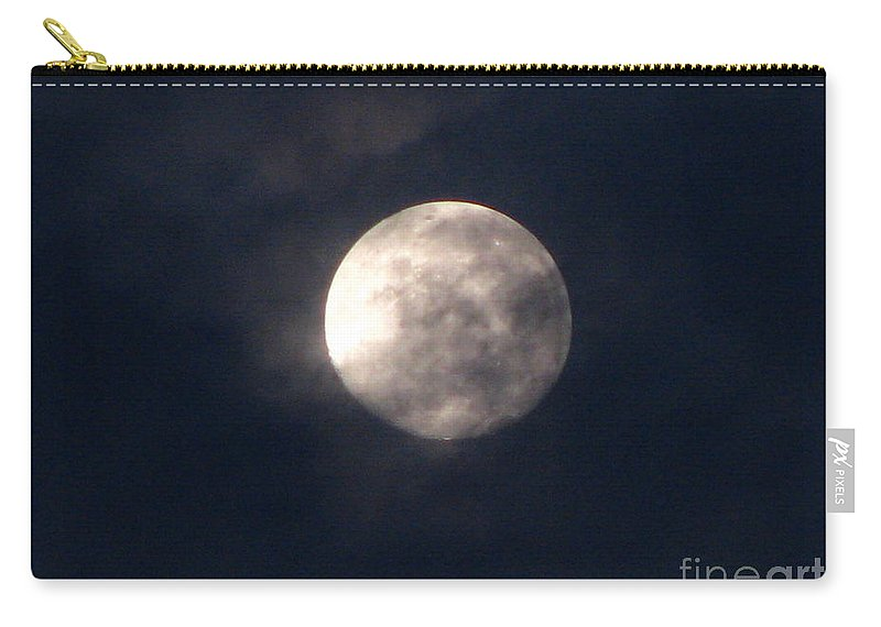 September Moon Carry-all Pouch featuring the photograph September Moon by Greg Patzer