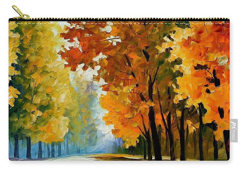 Afremov Carry-all Pouch featuring the painting September Morning by Leonid Afremov