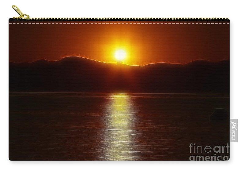 Sunset Carry-all Pouch featuring the photograph September Sunset by Deborah Benoit