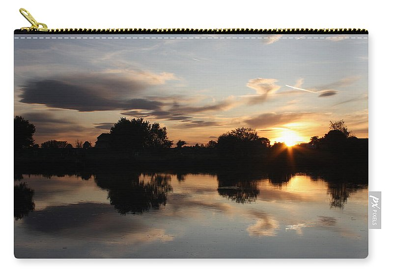 Sunset Carry-all Pouch featuring the photograph September Sunset In Prosser by Carol Groenen