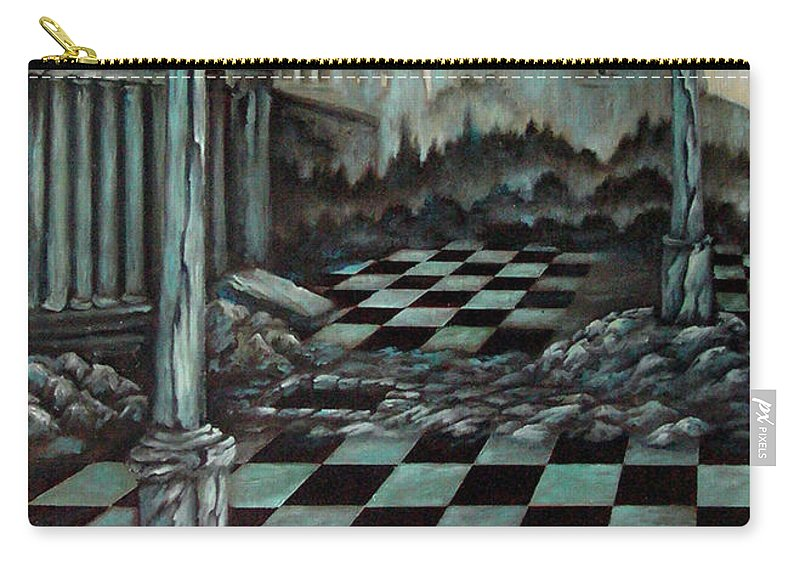 Surreal Carry-all Pouch featuring the painting Sepulchre by Valerie Vescovi
