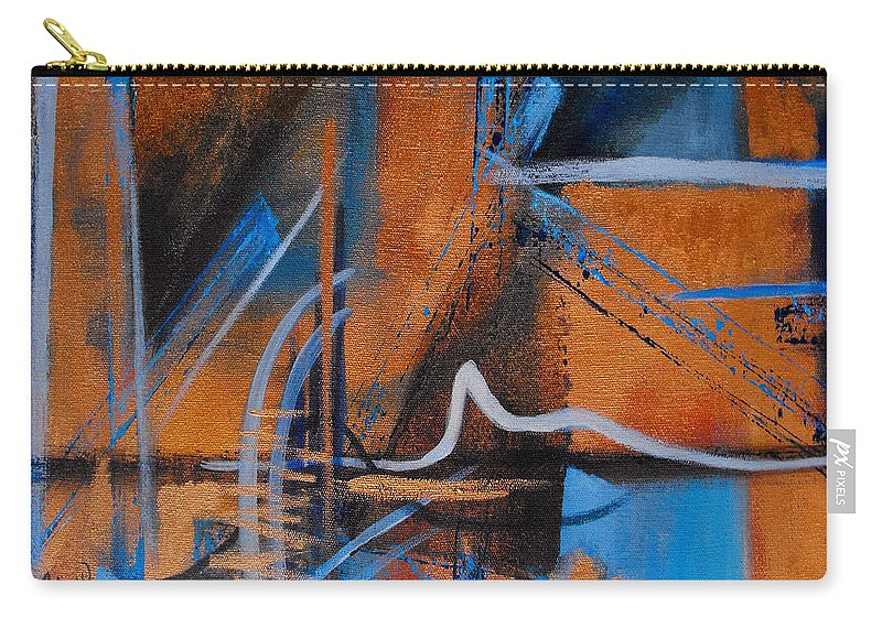 Abstract Carry-all Pouch featuring the painting Sequence Of Events by Ruth Palmer