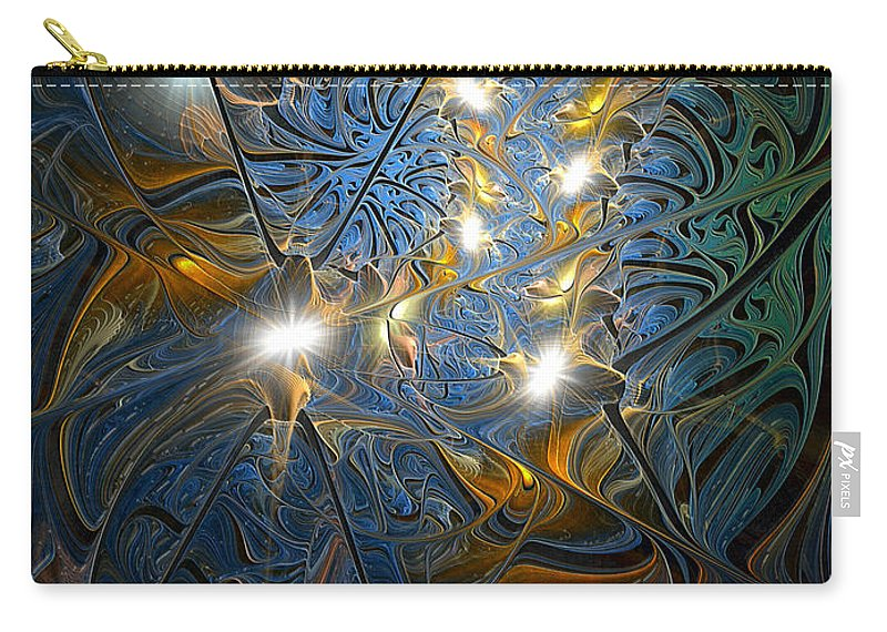 Abstract Carry-all Pouch featuring the digital art Serendipitous Trope by Casey Kotas