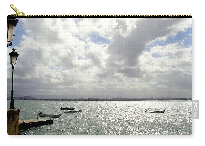 Seaside Carry-all Pouch featuring the photograph Serene by Deborah Crew-Johnson