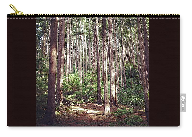 Serene Carry-all Pouch featuring the photograph Serene Forest by Kory Olson